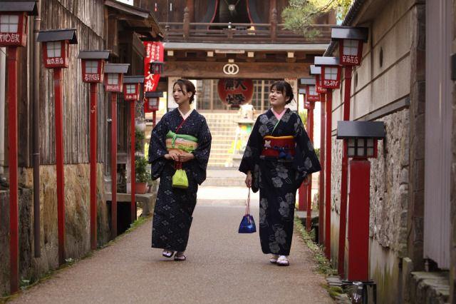 鳥取県倉吉市 絣でまち歩き